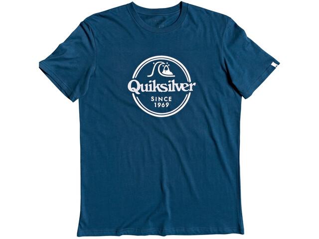 Quiksilver Words Remain T-shirt Heren, blauw